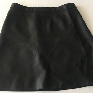 Zara A-line faux leather mini skirt
